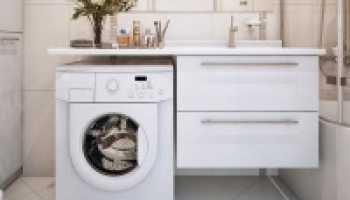 Стиральная машина в туалете: преимущества размещения и идеи дизайна