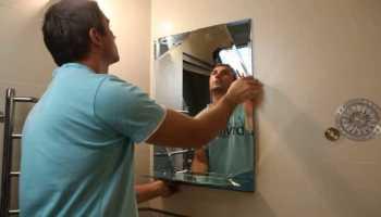 Способы крепления зеркала на стену