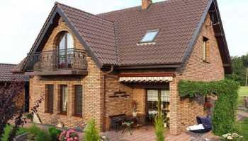 Дом из красного кирпича: красивые одноэтажные и двухэтажные проекты
