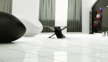 Белая глянцевая напольная плитка: тонкости выбора