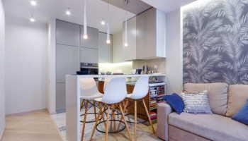 Оригинальные идеи оформления небольшой кухни-гостиной