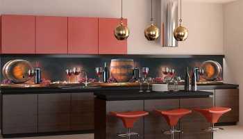 Фартуки с рисунком в дизайне интерьера кухни