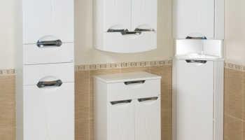 Навесные угловые шкафы для ванной комнаты: виды и характеристики