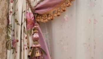 Эффектные элементы декора для штор